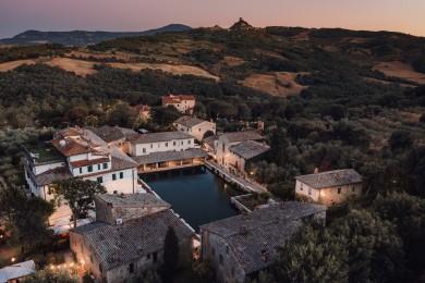 Bagno Vignoni, Landscape Tuscany photographer drone photo