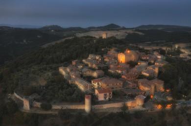 Monticchiello, Landscape Tuscany photographer drone photo